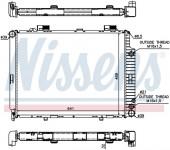 Két nước Mercedes E-Class W210. Mã Mer: 2105007103. Mã Nissens : 62691A