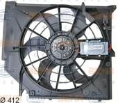 Quạt gió ngoài Điều Hòa BMW Series 3 E46. Mã BMW: 17117561757. Mã Hella: 8EW351038-391