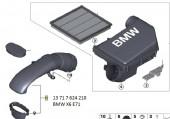 Ống gió BMW X6 E71. Mã BMW: 13717624210