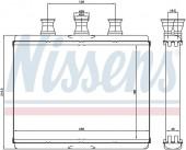 Giàn nước nóng BMW Series 7 E65 E66. Mã BMW: 64116906270. Mã Nissens: 70517