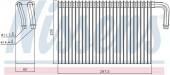 Giàn lạnh điều hòa BMW Series 5 E39 525i (2000-2004). Mã BMW: 64118385560. Mã Nissens: 92298