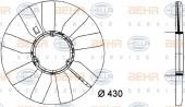 Cánh quạt gió động cơ Mercedes Sprinter. Mã Mer: 1032000423. Mã Hella: 8MV376733-281