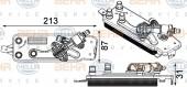 Bộ trao đổi nhiệt dầu hộp số BMW Series 7 F01 F02. Mã BMW: 17217638678. Mã Hella: 8MO376749-001