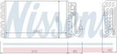 Giàn lạnh điều hòa BMW Series 5 E39 525i 528i (trước 2000). Mã BMW : 64118363782. Mã Nissens: 92146