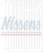 Giàn lạnh BMW Series 7 E65 E66 (Giàn lạnh phụ phía sau). Mã BMW: 64106907744. Mã Nissens: 92237