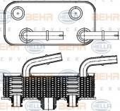 Bộ trao đổi nhiệt dầu-nước BMW Series 3 E46. Mã BMW: 17227505826. Mã Hella: 8MO376790-791
