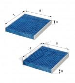 Lọc Điều hòa Blue Care cho BMW 5 F07, 10, BMW 7 F01,02, Rolls Royce 2008. Mã Hengst E2978LB-2.