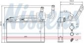 Giàn nước nóng trong điều hòa BMW X5 E70 F15, X6 E71 F16. Mã BMW : 64116968203 / 64116968204. Mã Nissens: 70529