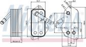 Bộ trao đổi nhiệt dầu máy BMW đ.cơ N52 N54 N55. Mã BMW: 11427525333. Mã Nissens: 90689